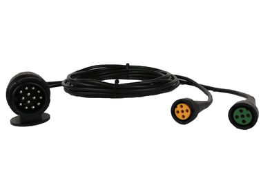 Curly Flex 9 Pin To 2*5 Pin Trailer 12v Coiled Power Cable